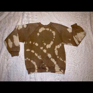 Reverse Tie Dye Grunge Crew Neck Sweatshirt XS